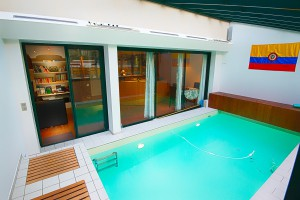Covered swimming pool