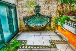 Fountain of the exterior courtyard